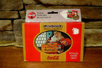 Vintage 1998 Coca Cola Christmas Playing Cards With Collectible Tin - Two Decks