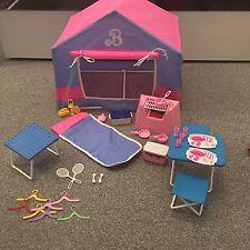 VINTAGE Barbie 1991 SET DA CAMPEGGIO TENDA BARBECUE A Pelo Pentole Camper Bundle GRANDI ANNI'90