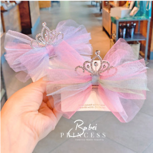 Baby Girls kids Unicorn Rainbow Crown Bow Hair Clip Bows Clips Children Toddler