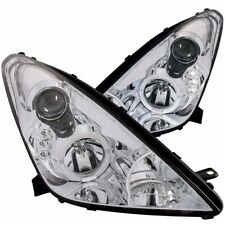 Aftermarket Headlight Pair L+R (Chrome, Halo) For 2000-2005 Toyota Celica