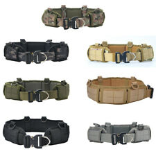 Quick Release Tactical Military Molle Waist Belt Padded Belt Strap w/Hang Buckle