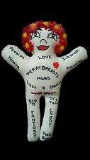 Sex Toy Voodoo Doll Connie Pentek Designs 12 Inch Cloth Lady Pink Gerber Hair