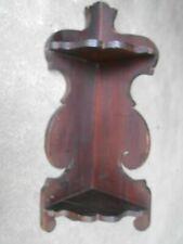 Vintage 2 Tier  Wooden Corner Wall Shelf