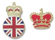 Royal Crowns Loyalist set of 2 Badges Enamel Lapel Pins (Des1)
