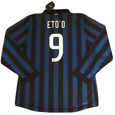 2011/12 Inter Milan Home Jersey #9 Eto'o 3XL Long Sleeve Player Issue NEW