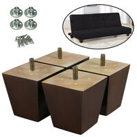 Pyramid Wood Furniture Legs Replacement Sofa Loveseat Cabinet 3 inch Pack of 4