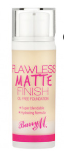 BARRY M FLAWLESS MATTE FINISH OIL FREE FOUNDATION SHADE PORCELAIN NEW