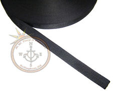 """Nylon Webbing,1"""" Inch, Black, 36"""" Inch Sold By The Yard - Ships from The USA!"""