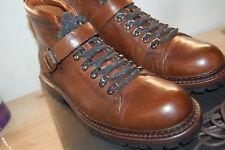 NU FRYE Men's George Norwegian Hiker Ankle Bootie Cognac 9.5 M $458 waterproof
