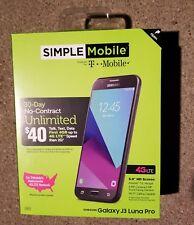 SIMPLE MOBILE SAMSUNG GALAXY LUNA PRO J3 PREPAID CELL PHONE--16GB--NEW IN BOX!!!