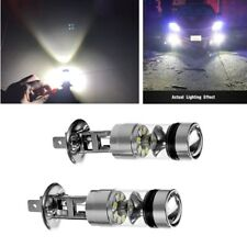 2X H1 Car White 100W 2323 20pcs LED Bulbs Fog Lamp DRL Driving Light Replacement