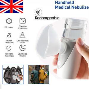 Portable Handheld Ultrasonic Nebulize Inhaler Respirator Mesh Asthma Travel UK