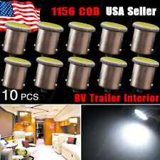 10x White 1156 BA15S COB 12SMD LED Light Bulbs Tail Brake Stop Back Up 1003 1073