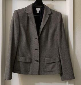 Ann Taylor Black & White Blazer, Size 12