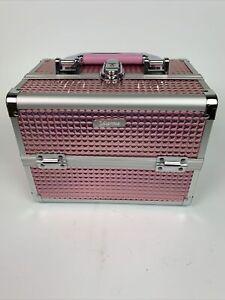 Aluminium Make Up Travel Nail Storage Box Cosmetic Beauty Vanity Case Organiser