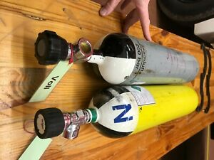 2x Atemluftflasche Druckluftflasche 200 bar 4 Liter mit TÜV