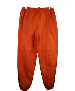 Nike Vintage Gray Tag Windbreaker Track Pants XL Orange Embroidered Logo Lined