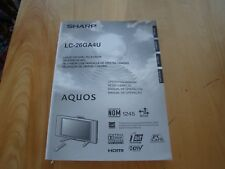 SHARP LC 26GA4U LIQUID CRYSTAL TELEVISION OPERATION MANUAL