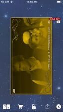 Topps Star Wars Digital Card Trader Widevision Gold Han Solo & Leia Insert