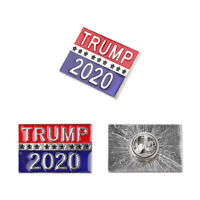 Trump 2020 Pin Republican Campaign Political Brooch Pins Badge Women Men Gifts