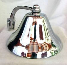 Perko Ship'S Bell *Chrome Over Brass* w Original Box *Never Used c.1960'S