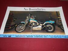 "HARLEY-DAVIDSON ""NO BOUNDARIES"" ORIGINAL 15"" by 28"" MOTORCYCLE POSTER / BROCHURE"