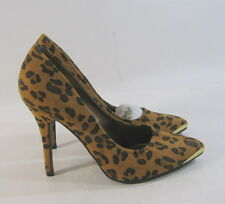 """new ladies Cheetah 4.5""""High Stiletto Heel Pointy Toe Sexy Shoes  US Size 7.5"""