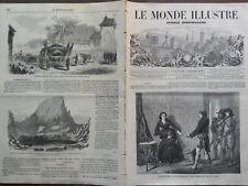 """LE MONDE ILLUSTRE 1859 N 128 SALON DE 1859:"""" UNE ARRESTATION SOUS LA TERREUR"""""""