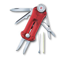 36699 VICTORINOX GOLF TOOL RED TRANSPARENT MULTI TOOL 10 FUNCTIONS SWISS ARMY