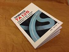 Yamaha TA125 manual del propietario-reproducción TZ, AS3, Ta 125, GyT * Piezas Disponibles *