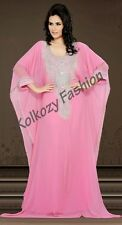 Dubai Caftan Kaftan long Maxi Dress Jilbab Islamic Kheleeji Sequin Arabian Abaya