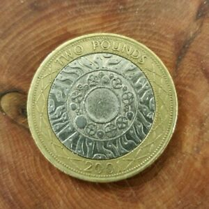 A 2001 British 'Standing On The Shoulders Of Giants' Collectible Two Pound Coin