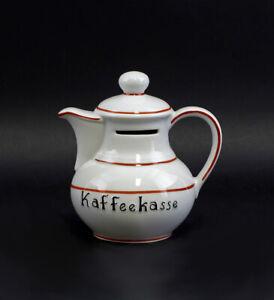 9986009 Spardose Lindner Porzellan Figur Kaffeekanne 12x7x13cm
