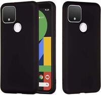 Per Google Pixel 4A 5G Custodia Sottile Armatura Opaco Nero Anti-urto Gel Cover