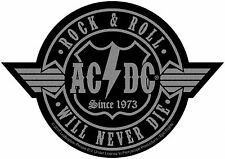 AC/DC ACDC-Patch ricamate-ROCKN ROLL will never i 9x9cm