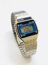 Vintage Qualtron Melody Lcd Alarm Chronograph  Digital Wrist Watch (211M)