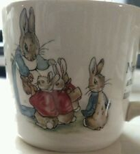 "Beatrix Potter Peter Rabit Wedgwood Made in England 2 3/4"" Cup Mug"
