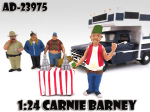 "CARNIE BARNEY ""TRAILER PARK"" FIGURE FOR 1:24 SCALE MODELS AMERICAN DIORAMA 23975"