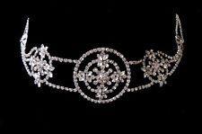 Bridal Hair Goddess Jeweled Headpiece Forehead Hobo Bohemian Headdress Art Deco
