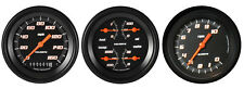 "Velocity Black Series 3 Gauge Set 3-3/8"" Speedometer & Tachometer 140 MPH"