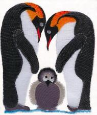 Penguin Family Embroidered Set Of 2 Hand Towels Bath by laura