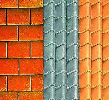 1:12 Dolls House Quality Card Roof Tile Paper A3 (29.7cm x 43cm) Sheet Wallpaper