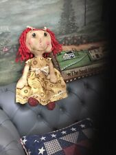 PRIMITIVE FOLK ART ARTIST MADE DOLL COUNTRY RUSTIC SHABBY CHIC.