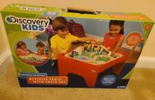 Discovery Kids 54 Piece Wooden Activity Table & Train Set (New/BNIP)