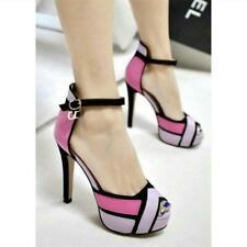 Women's Sexy Peep Toe Platform Stiletto High Heels Clubwear Party Sandals