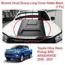 Bonnet Hood Scoop Cover Trim Matte Black For Toyota Hilux Revo 4WD 2WD 2015 - 17