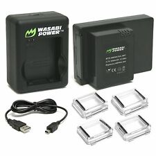 Wasabi Power 3400mAh Extended Battery BacPac - GoPro Hero3+,3 & Charger+Backdoor