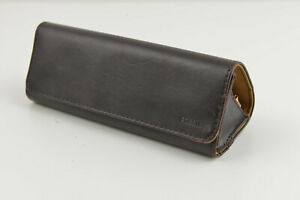 Fossil Sunglasses Eyeglasses Soft Case Brown Magnetic Closure