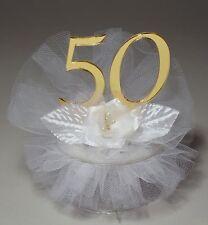 50th Wedding Anniversary Cake Topper (JK34-50)