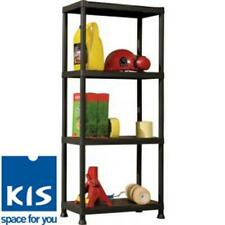 Heavy Duty Plastic Shelving Garage Shelve Four 4 Tier Shelf Storage Rack